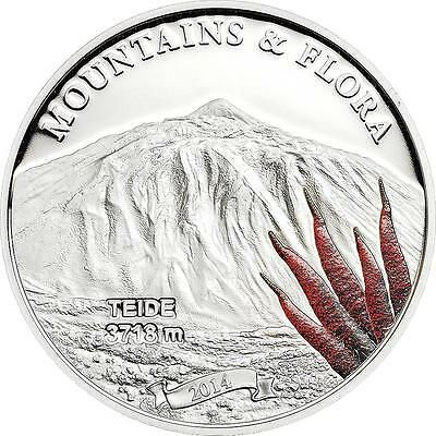 Palau 2014 $5 Mountains and Flora 2014 II Teide Tenerife 20g Silver Proof Coin