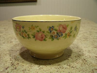 Vintage Small Edwin M Knowles China Co Floral Pattern Bowl 93-9 USA