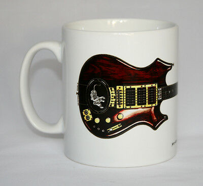 Guitar Mug. Jerry Garcia's Tiger guitar illustration.