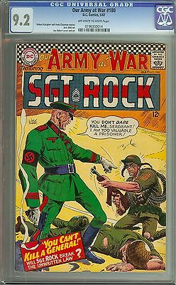 Our Army At War #180 Cgc 9.2 Ow/wh Pages // Joe Kubert Cover/art