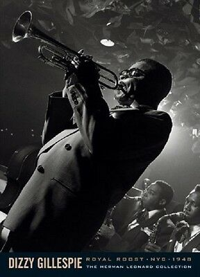 JAZZ DIZZY GILLESPIE POSTER Trumpet Royal Roost NYC 1948 NEW LICENSED