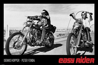 (Laminated) Easy Rider Movie Bikes Poster (61X91Cm)  Picture Print New Art