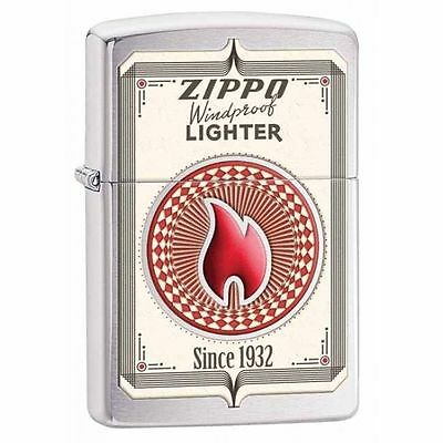Zippo Windproof Brushed Chrome Trading Cards Lighter, # 28831, New In Box