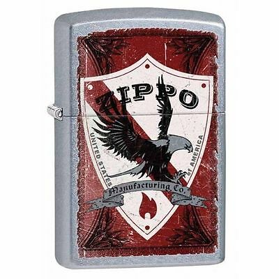 Zippo Windproof Street Chrome Lighter With Zippo Shield,  28867, New In Box