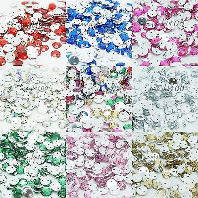 1000 Sew On Rhinestone Beads Diamond Decoration Gems Flat Back Sewing Trimmings