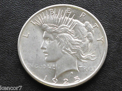 1925-P Peace Dollar 90% Silver U.S. Coin Lot A4401