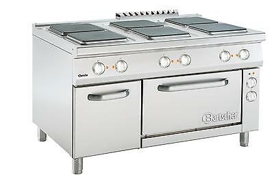 Bartscher 296216W - Full electric cooker, 6 plates, electric oven, 6x4kW