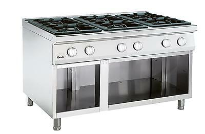 Bartscher 2951061 - Gas stove, 6 burners with neutral stand