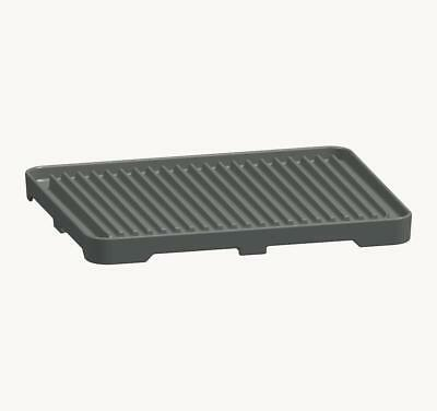 Bartscher 285080 - Grooved cast iron grill plate for two fires