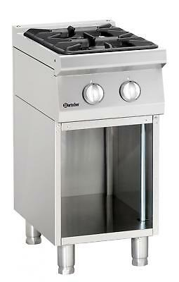 Bartscher 2851021 - Gas stove, 2 burners with open base frame Series 700