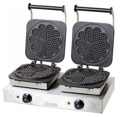 Bartscher 370161 - Double waffle maker with baking plates heart shaped