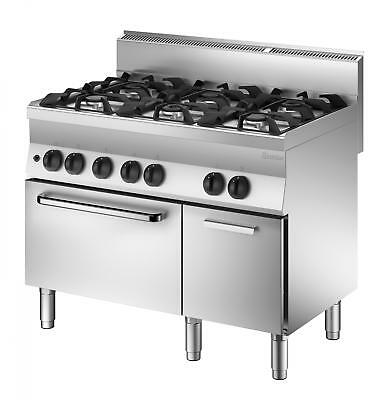 Bartscher 1151163 - 6 burner gas stove with gas oven and neutral cabinet