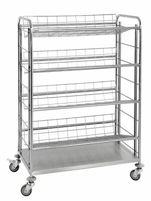 Bartscher 300084 - Bottle crate trolley with 4 grid shelves DE