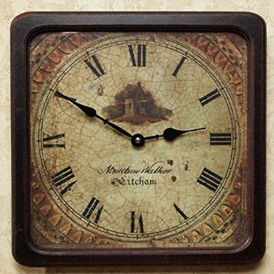 Farmhouse Wall Clock for Kitchen or Dining Room Battery Operated