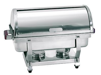 Bartscher 500458 - Chafing dishes food warmer rolltop GN1/1 chrome steel