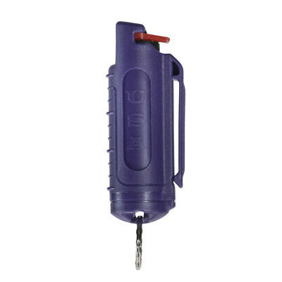 Police Magnum mace pepper spray .50oz purple molded keychain defense security