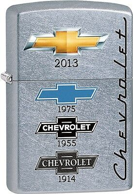 Zippo Chevy Captures The Changing Chevrolet logo Street Chrome Lighter 28846 NEW
