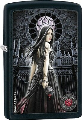 Zippo Anne Stokes Collection Tattooed Woman Dark Castle Black Matt Lighter 28858