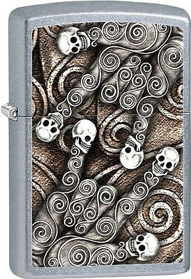 Zippo Skull Scroll Hand Rock On I Love You Patterns Street Chrome Lighter 28869
