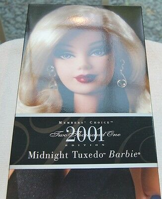 """2001 Barbie Collector's Club Kit """"Spotted on the Scene"""" AND Midnight Tuxedo Doll"""
