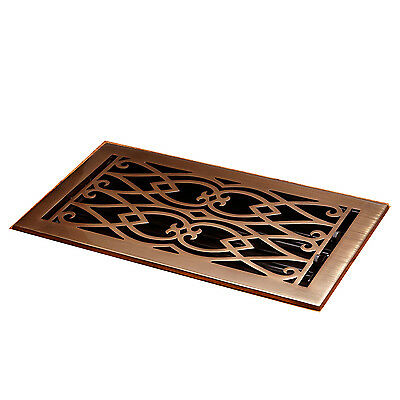 Naiture Brass Floor Register Victorian Style In 12 Sizes and 7 Finishes