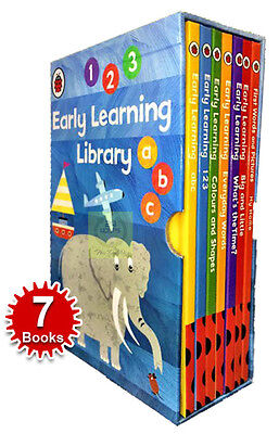 Children's Early Reading Learning Library 7 Collection Books Box Set NEW ABC 123