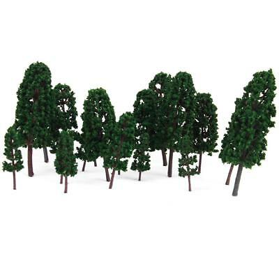 20Pcs Model Train Railway Diorama Scenery Forest Pine Trees Ho Oo N Z Scale