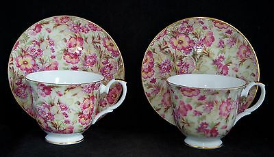 Crown Trent ROSAMUND Floral Chintz Tea Cup and Saucer Duo - AS NEW RRP $49.95