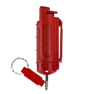 Police Magnum mace pepper spray .50oz red molded keychain QR defense security