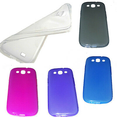 Custodia Cover Ultra slim 0.3 MM Sottile silicone per SAMSUNG GALAXY S3 e s3 NEO