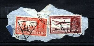 BAHRAIN 1938 2a AND 12a ON SMALL PIECE (ID:739/D31721)