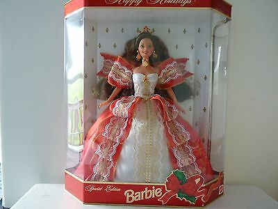 1997 Happy Holidays Brunette Barbie Doll Special Edition - NRFB
