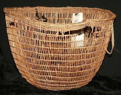 Antique Native American Indian Salish or Makah NW Coast Clam Gathering Basket
