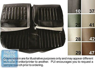 71-72 Skylark / 350 / GS White Bench W/O Armrest Seat Covers & Conv Rear - PUI