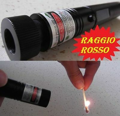 PUNTATORE  LASER ROSSO  POWERFUL PROFESSIONALE TORClA 2 IN 1
