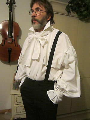 Regency/Pirate/swordsman Costume  shirt ready made ready to ship sizeM