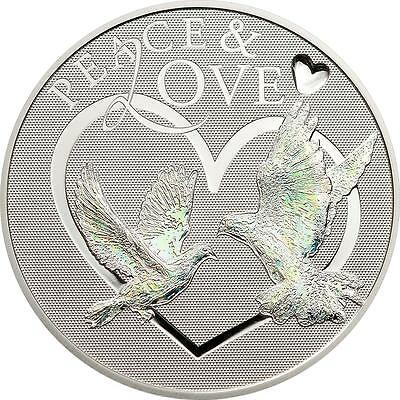 Tokelau 2012 $5 Peace & Love 25g Silver Proof Coin with Hologram
