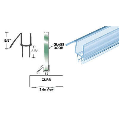 "CRL Clear Co-Extruded Bottom Wipe With Drip Rail for 1/4"" Glass 32 /58 Long"