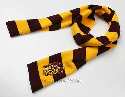 1Pcs New Harry Potter Red&Yellow Gryffindor Wool Scarf Costume