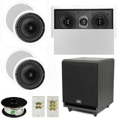 "5.1 Home Theater 6.5"" Speakers Set, Center, 8"" Powered Sub & More TS65CL51SET3"