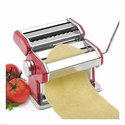 Norpro Pasta Machine Noodle Maker w/ Clamp Red 9 Thickness Settings Manual 1049R