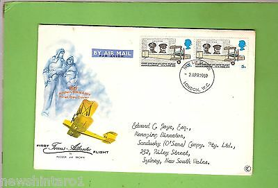 #d157. 1969 Air Mail Envelope, London To Sydney, Aviation Theme