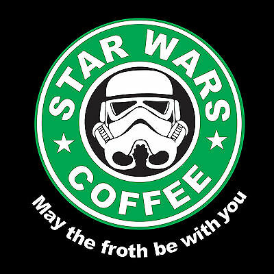 StarWars Coffee May The Froth Be With You Starbucks Mens Ladies T-Shirts S-XXL