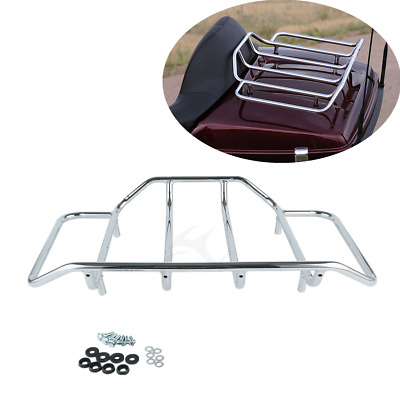 Chrome Trunk Luggage Rack Rail Fit For Harley Touring Electra Street Road Glide