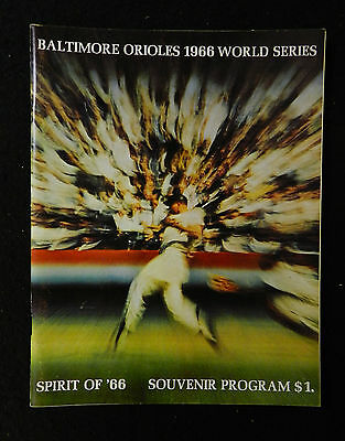1966  WORLD SERIES PROGRAM  HIGH GRADE BALTIMORE ORIOLES vs  LA  DODGERS SCORED