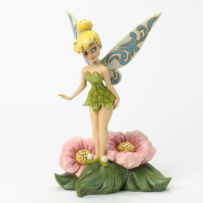 Jim Shore Disney Traditions Tinker Bell Standing on Flower Fairy 4037505 Tink