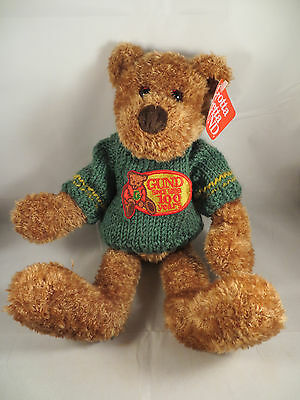 """GUND 100 Year Anniversary Plush Teddy Bear Knitted Sweater 15"""" - NEW with Tags"""