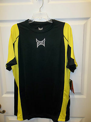 NWT Mens XL TAPOUT MPS Eagle Black & Yellow MMA UFC T Shirt ss XLarge military