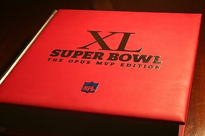 OPUS SUPER BOWL XL MVP EDITION LEATHER OVERSIZED BOOK - SIGNED 1st EDITION