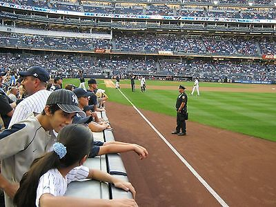 2 - Front Row Field Level Section 109 New York Yankees 2015 Tickets 6/5